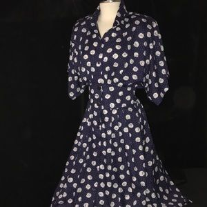 Vintage 90's CAROLINE WELLS Sz 14 Women's Dress